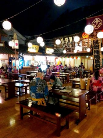 Japanisches Bad Ooedo Onsen Monogatari in Odaiba in Tokio