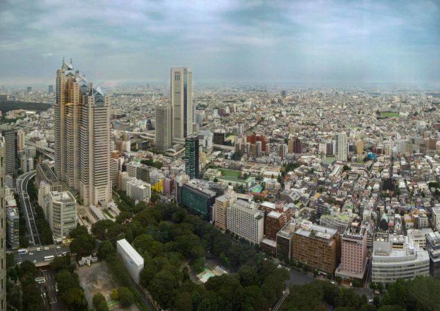 Panorama von Tokio vom Rathaus in Shinjuku