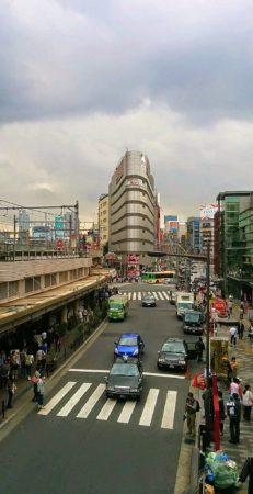 Bahnhof von Ueno mit Blick auf die EInkaufsstraße Ameyoko in Tokio