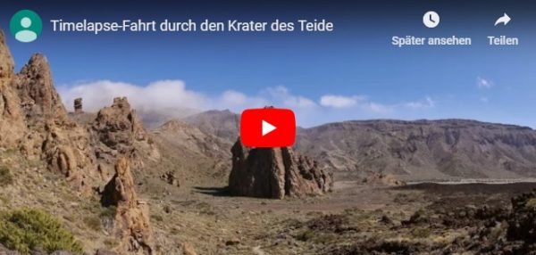 Video Timelapse Fahrt durch den Krater des Teide