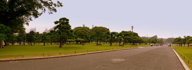 Parkanlage vor dem Kaiserpalast in Marunouchi in Tokio