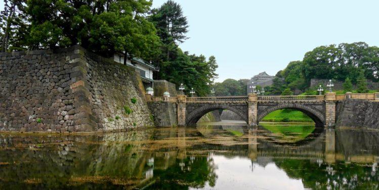 Brücke zum Kaiserpalast in Marunouchi in Tokio