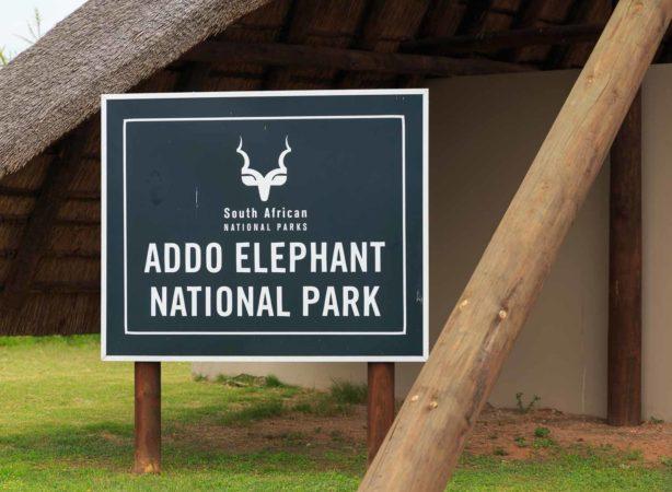 Einfahrt zum Addo Elephant National Park