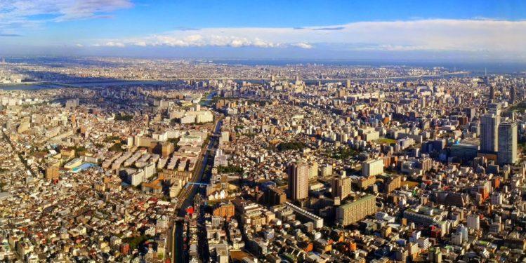 Blick auf den östlichen Teil von Tokio vom Tokyo Skytree