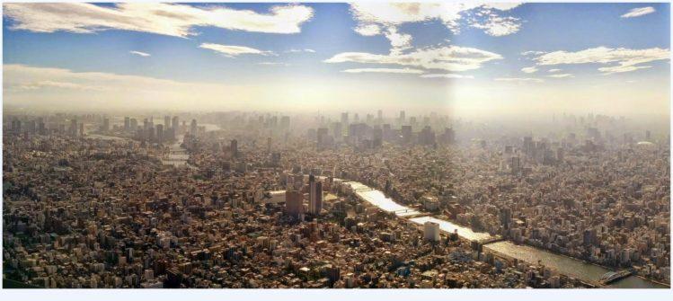 Skyline vom südwestlichen Teil von Tokio vom Tokyo Skytree