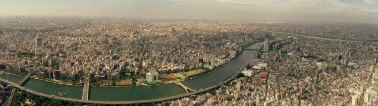 Panorama vom nördlichen Teil von Tokio vom Tokyo Skytree