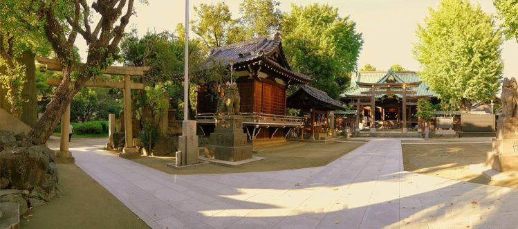 Panorama vom Tempel im Sumida Park