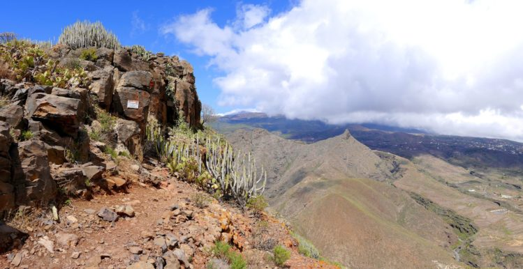 Einstieg zum Abstieg auf dem Roque del Conde