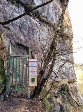Zugang zu den Klettersteigen an der Ochelbaude