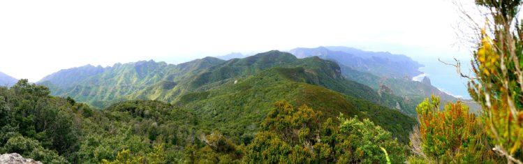 Panorama vom Anaga Gebirge auf Teneriffa