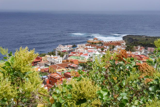 Blick auf San Juan la Rambla auf Teneriffa