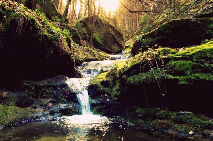 Der Bach Schindergraben am Aufstiegsweg