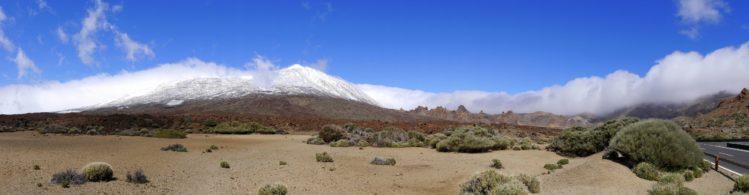 Panorama vom Teide nach Schneefall