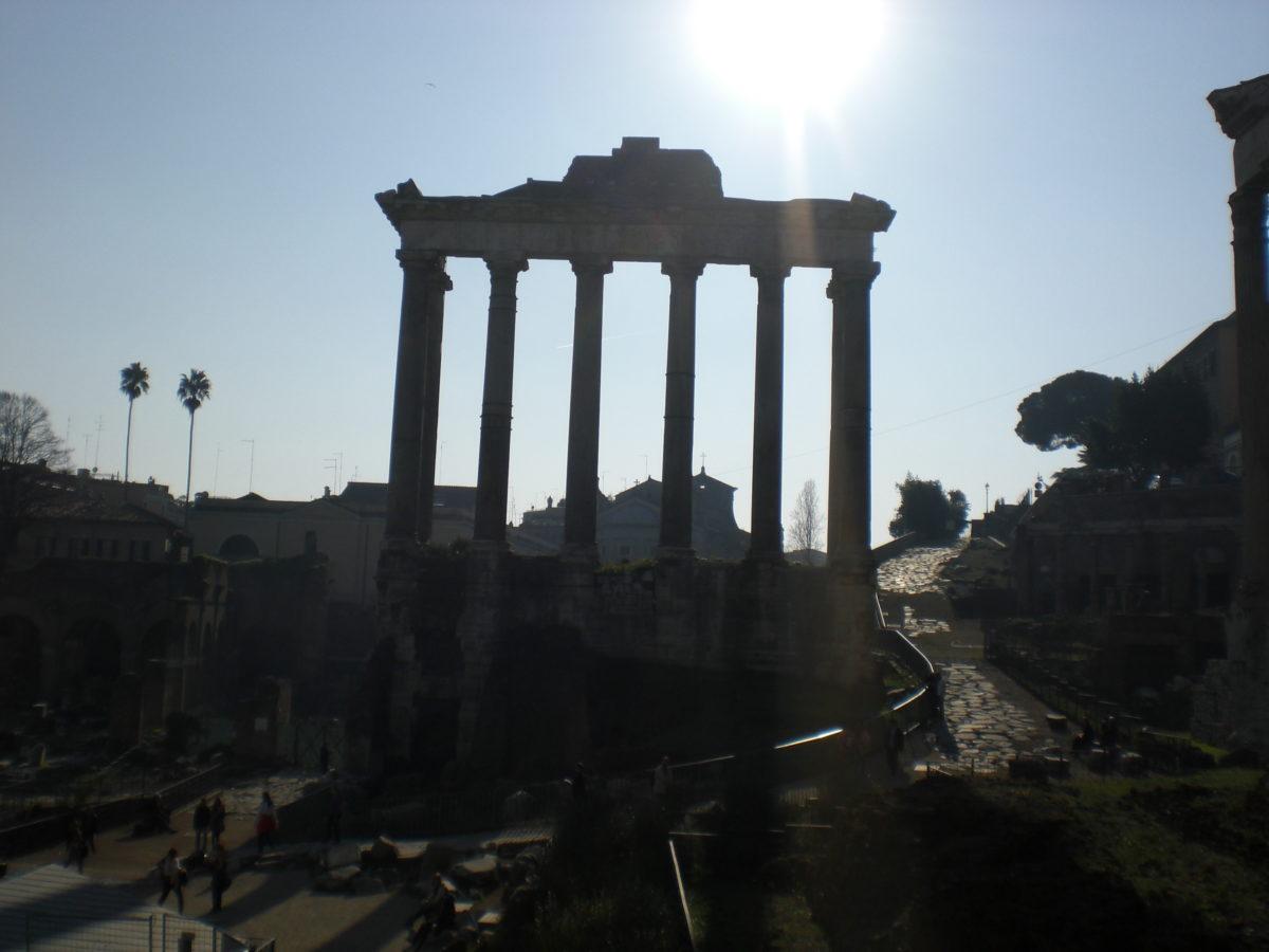 Noch einmal das Forum Romanum im Gegenlicht