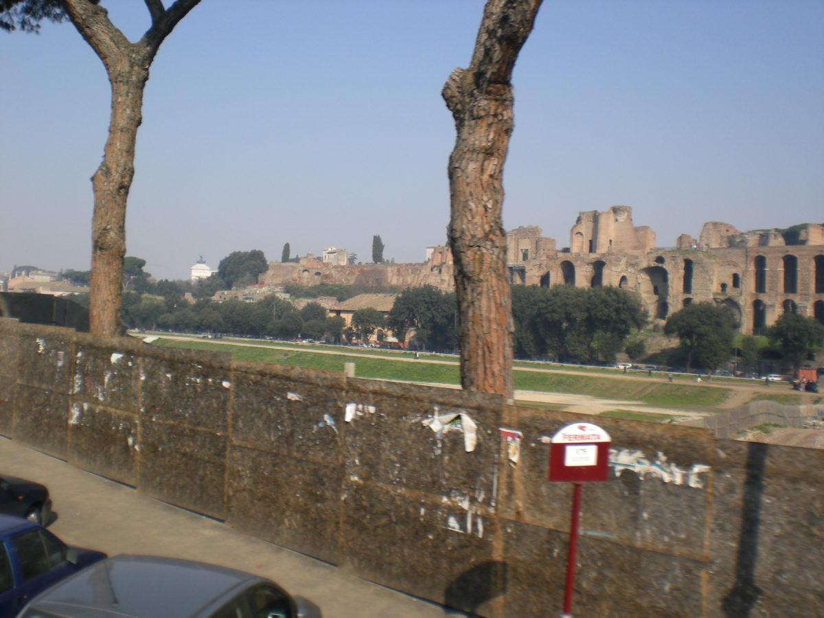 Circus Maximus, die erhaltene Freifläche.