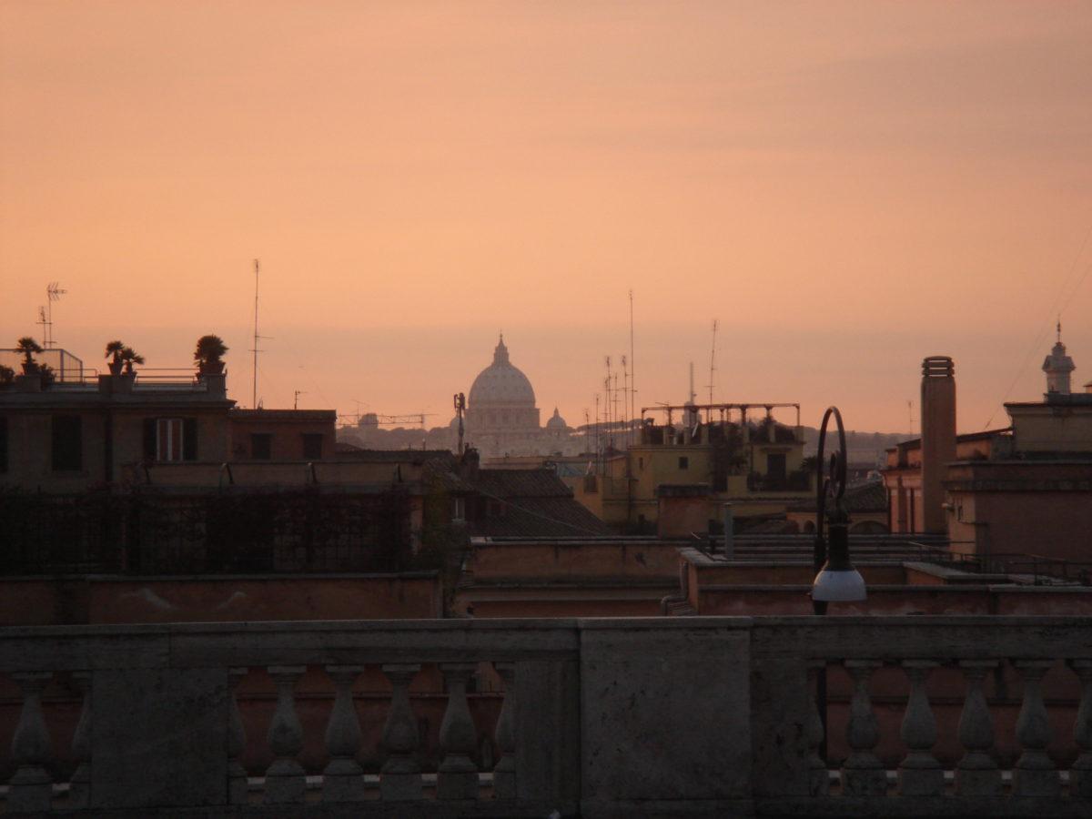 Rom beim Sonnenuntergang.