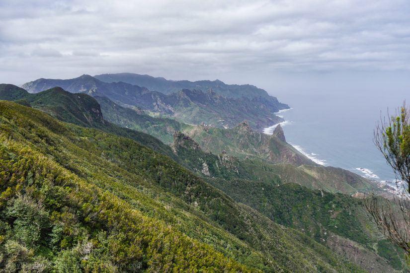 Blick vom Chinobre auf die nördliche Küstenline des Anaga Gebirge