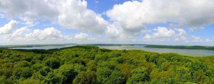 Panorama von Rügen mit Blick nach Westen
