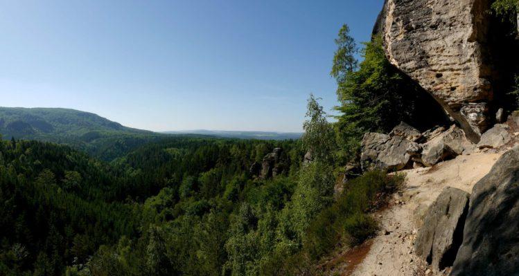 Panorama vom Großvaterstuhl mit Falknertürmen