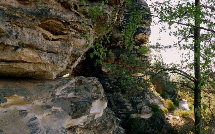 Felsdurchgang an den Falknertürmen