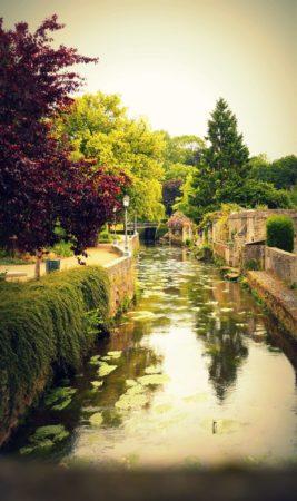 Der Fluss L'Aure in Bayeux