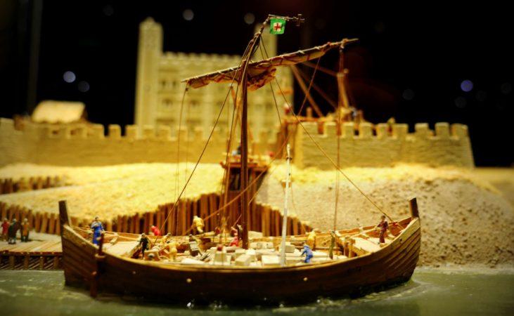 Miniatur Transportboot aus Mittelalter