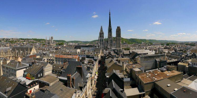 Panorama von Rouen mit der Kathedrale