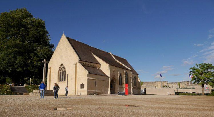 Gebäude auf der Burg in Caen