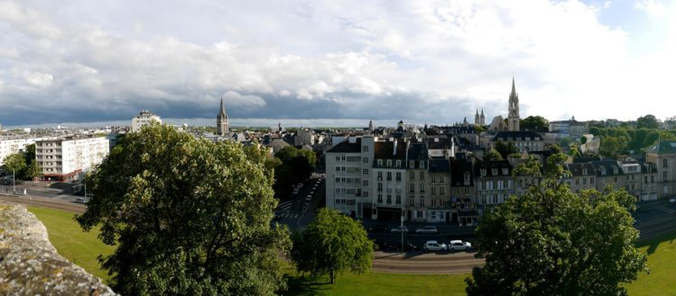 Panorama von der Altstadt von Caen von der Burg