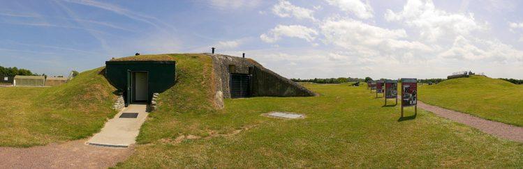 Bunker in der Artilleriebatterie von Merville