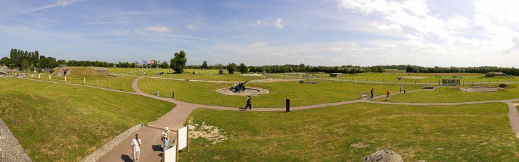 Panorama von der Artilleriebatterie von Merville