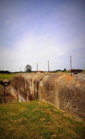 Kommandozentrale von der Artilleriebatterie von Merville