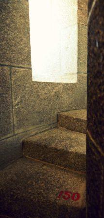 Treppenstufen mit Nummer 150