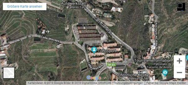 Google Maps Karte Teneriffa Parkplatz Roque del Conde