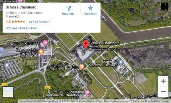Google Maps Karte Schloss Chambord