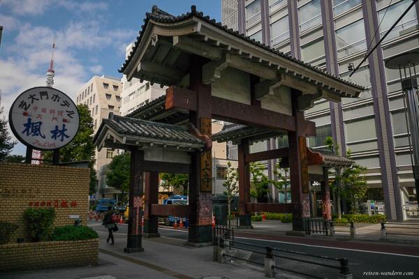 Daimon Tor beim Zōjō-ji Tempel