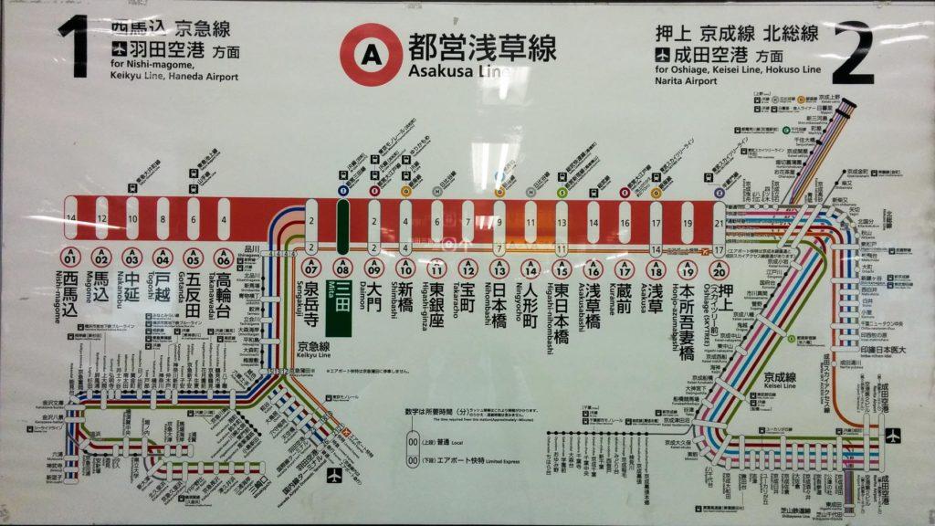 Streckenplan Asakusa Line