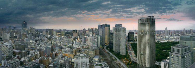 Skyline von Tokio am Abend