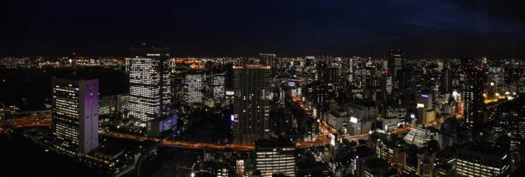 Skyline von Tokio bei Nacht