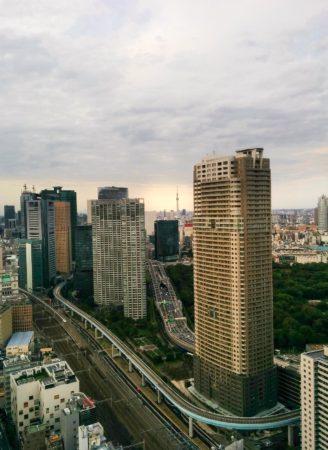 Tokio mit Skytree vom WTC