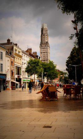 Fußgängerpassage in Amiens