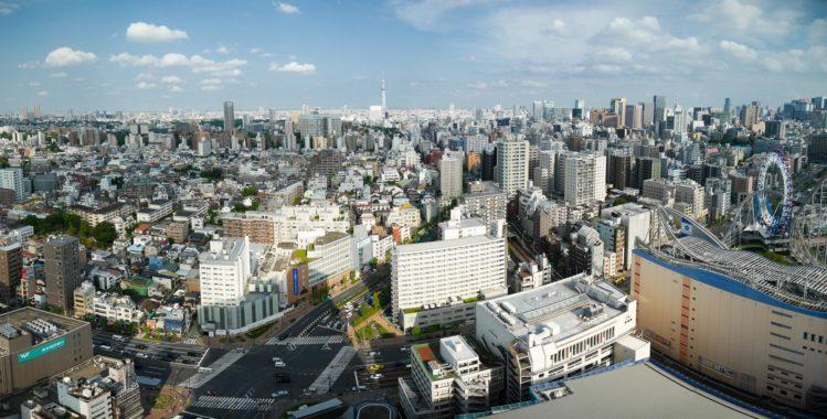 Aussichtsplattform Civic Center - Skyline Tokio mit Blick auf den Skytree