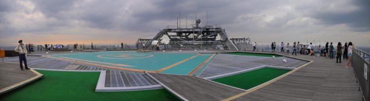 Sky Deck Roppongi Hills mit Hubschrauberlandeplatz