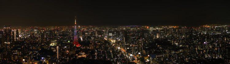 Skyline Tokio mit Tokyo Tower am Abend