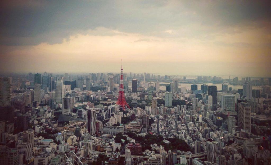 Tokyo Tower von Roppongi Hills