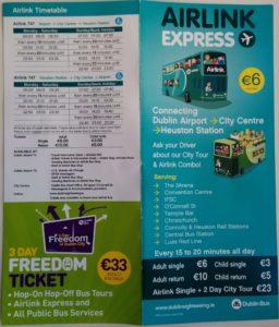 Fahrplan Airlink Express Dublin - Außenseiten