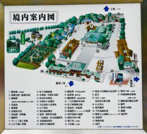 Übersichtskarte des Kanda Myojin Schrein in Akihabara