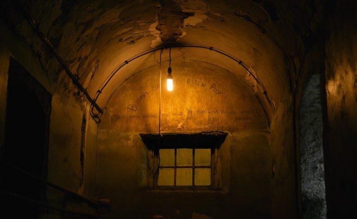 Inschrift von Häftlingen im Kilmainham Gefängnis
