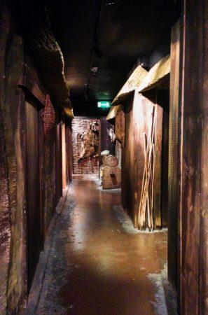 Nachbau einer alten Wikingersiedlung im Museum Dublinia