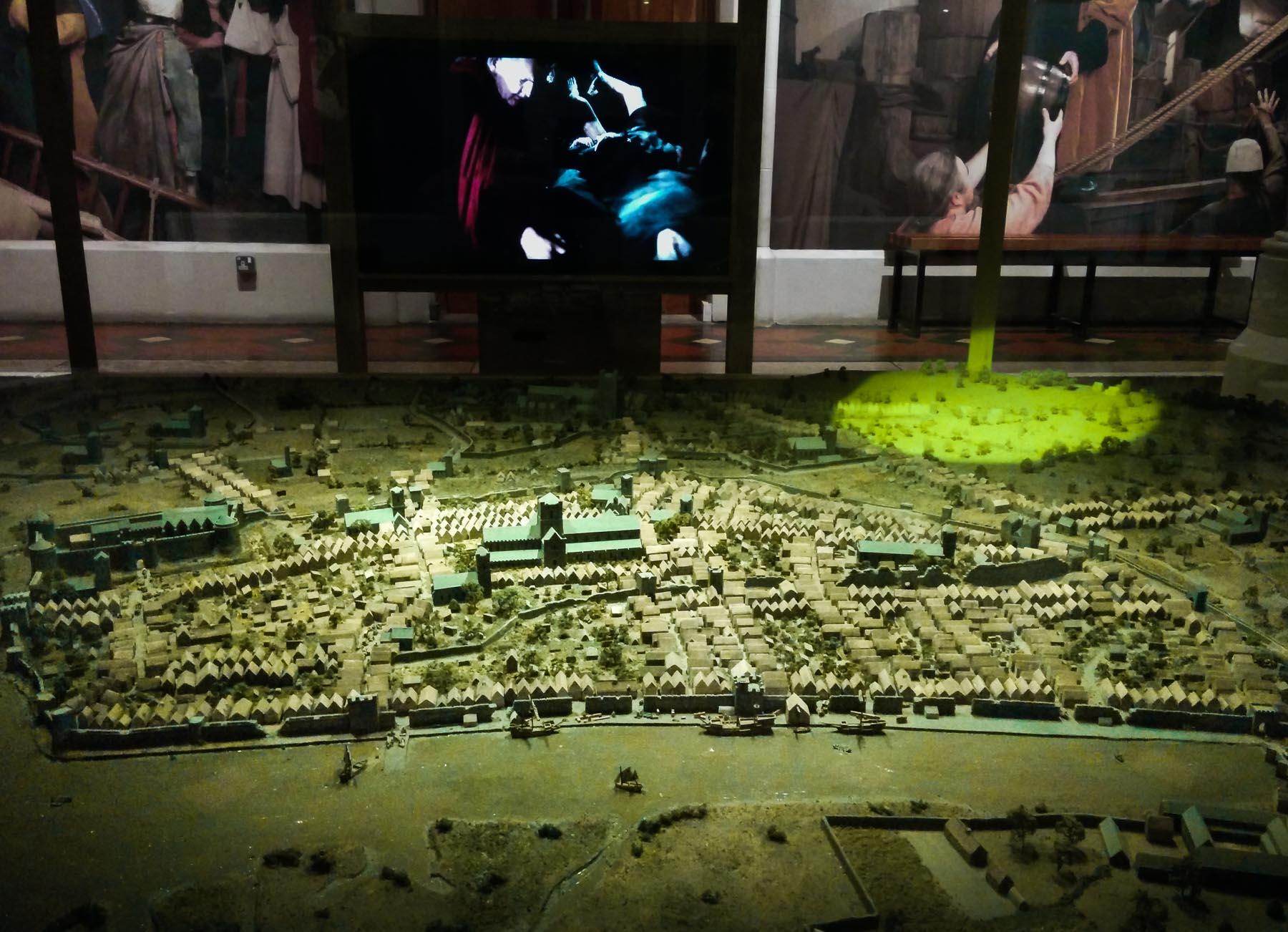 Die Grenzen des alten Dublins im Museum Dublinia